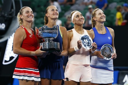 Tennis - Australian Open - Women's Doubles Final - Rod Laver Arena, Melbourne, Australia